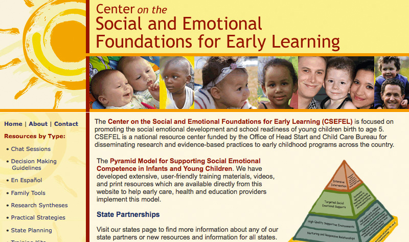 Center on the Social & Emotional Foundations for Early Learning
